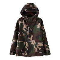 New Autumn Unisex Camouflage Hooded Jacket Women Loosen Plus Size Bomber Jacket Boy Friend Lover Harajuku