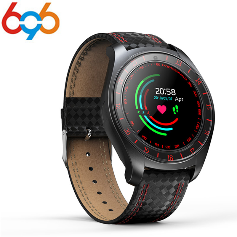 696 <font><b>V10</b></font> Smart Watch Men with Camera Bluetooth <font><b>Smartwatch</b></font> Pedometer Heart Rate Monitor Support Sim Card SMS Wristwatch image