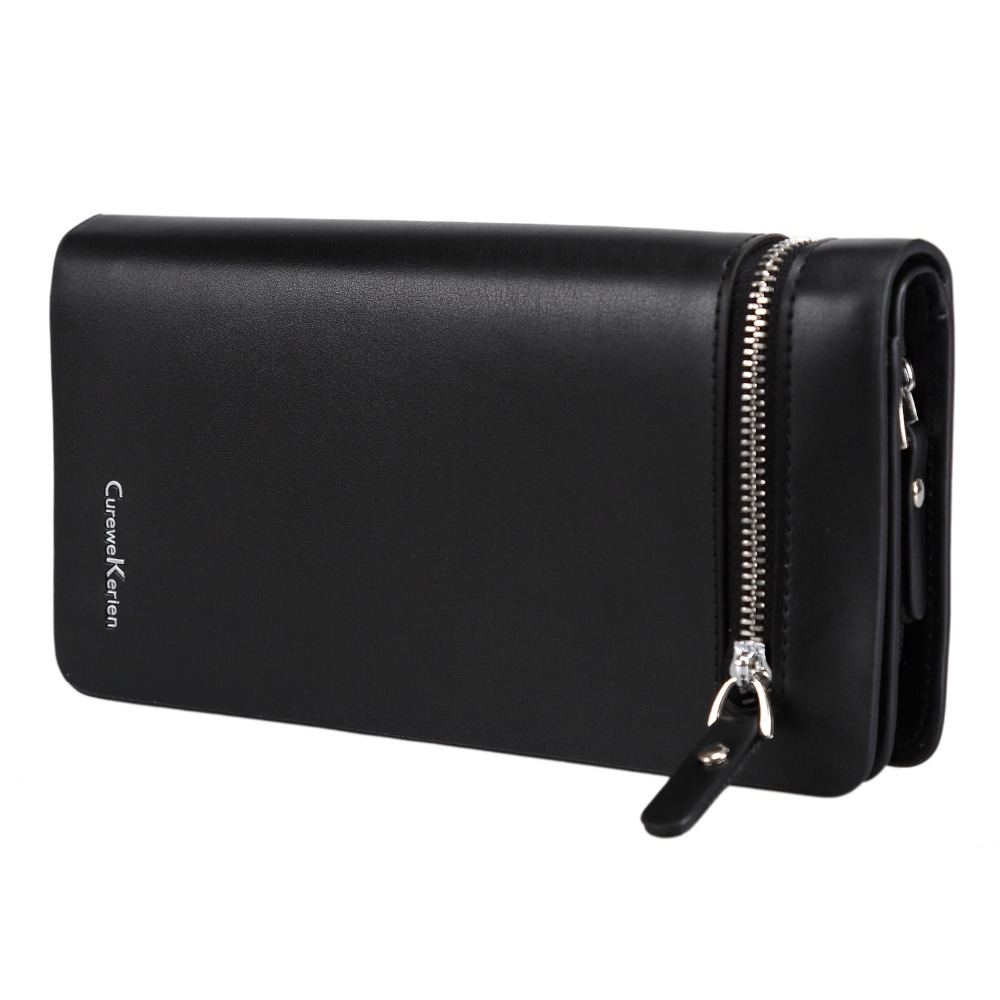 NEW Bifold Men Wallet Brand Famous Mens Leather Long Wallet Clutch Male Money Purse ID Card Holder Carteira Masculina designer 2017 new mens ostrich wallet men clutch wallet cowhide genuine leather zipper long male purse phone holder famous brand