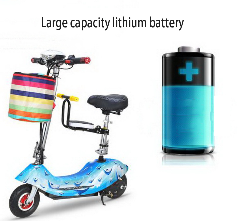 Perfect 261025/Ladies mini folding car bicycle scooter adult student portable two rounds/Scrub pedal 30-50km/h velo electrique 4