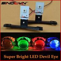 Auto Styling LED Devil Eyes Dämon Evil Eye DRL selbstschutz Für Scheinwerfer Projektor Rot Blau Gelb weiß Grün