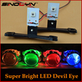 Car Styling LED Devil Eyes Demon Evil Eye DRL Self-protection For Headlight Projector Lens Retrofit Red Blue Yellow White Green