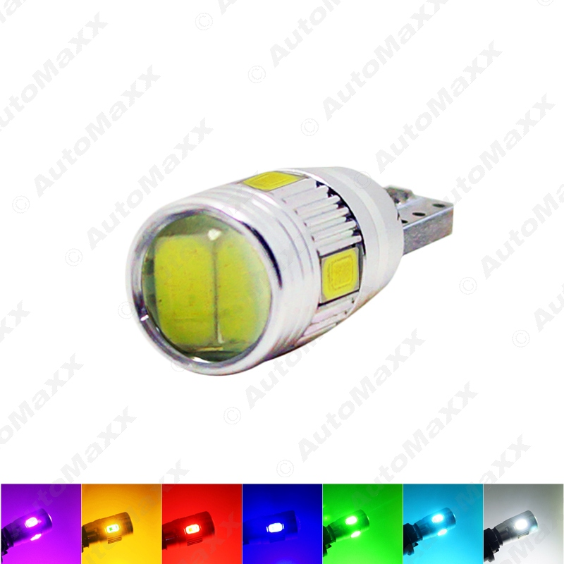 40PCS Power T10/W5W/194/168 6SMD 5630 LED Canbus Error Free Car LED Light Bulb With Lens#J-1255