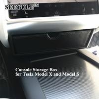 1pc SEEYULE Car Center Console Storage Box Organizer Bag For Tesla Model X Model S Perfectly