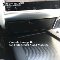 1pc SEEYULE Car Center Console Storage Box Organizer Bag for Tesla Model X Model S Perfectly Fit Drawer Container Accessories