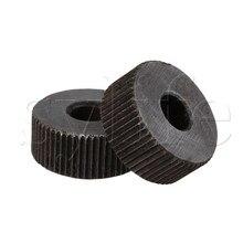 2 шт. накатки инструмент серебро один прямой колесо линейный инструмент для накатки 1 мм шаг