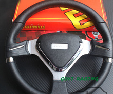 pvc racing steering wheel  wheels sport  leather steering wheel  auto car leather steering wheel cover car covers car styling