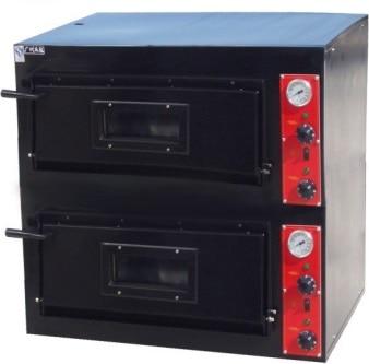 Forno Para Pizza elétrico duas Camadas certificado do CE transportador Elétrico forno de pizza forno elétrico fogão elétrico - 1