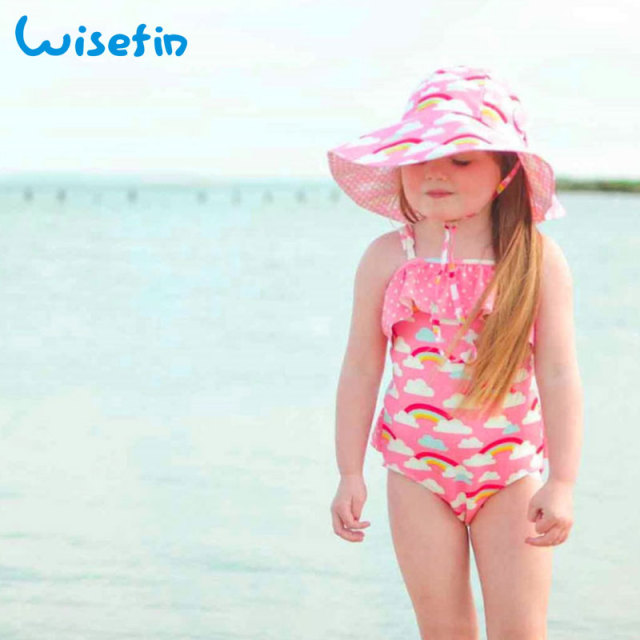 931a9bbd92544 Wisefin Toddler Girl Swimwear Cloud Baby Bathing Suit One Piece Pink Kids  Swimsuit Girls Rainbow Baby Swim Suit Kids Swimwear