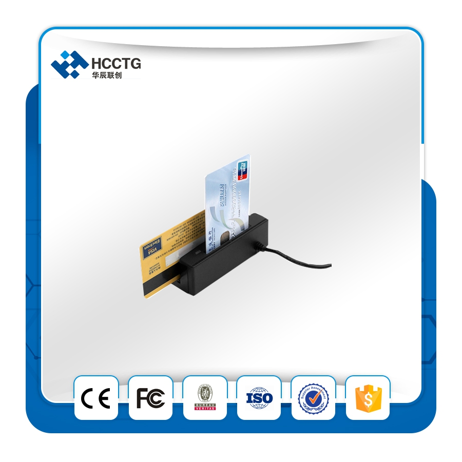 Bande magnétique MSR et carte ic Combo Lecteur/Skimmer avec SDK gratuit HCC100