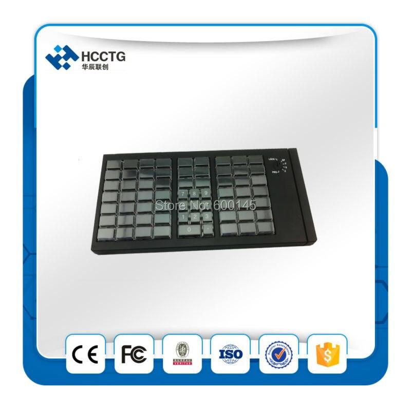 KB66 de programación USB teclado POS programable Teclado mecánico sin MSR lector de tarjeta