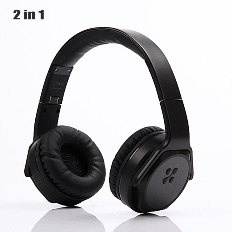 wireless office speakers. foldable 2 in 1 wireless headphones bluetooth speaker stereo sport headset portable gaming big earphone for office speakers