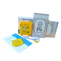 Mini AED Trainer Automatic External Defibrillator Emergency CPR Skill Training Machine In Portuguese + 1 CPR First Aid Mask