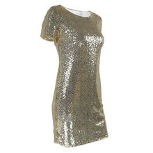 Cut Out Glitter Dress For Women Gold Sequins Short Sleeve Elegant Party  Dress 2017 Casual Summer 8bc787bf4a00