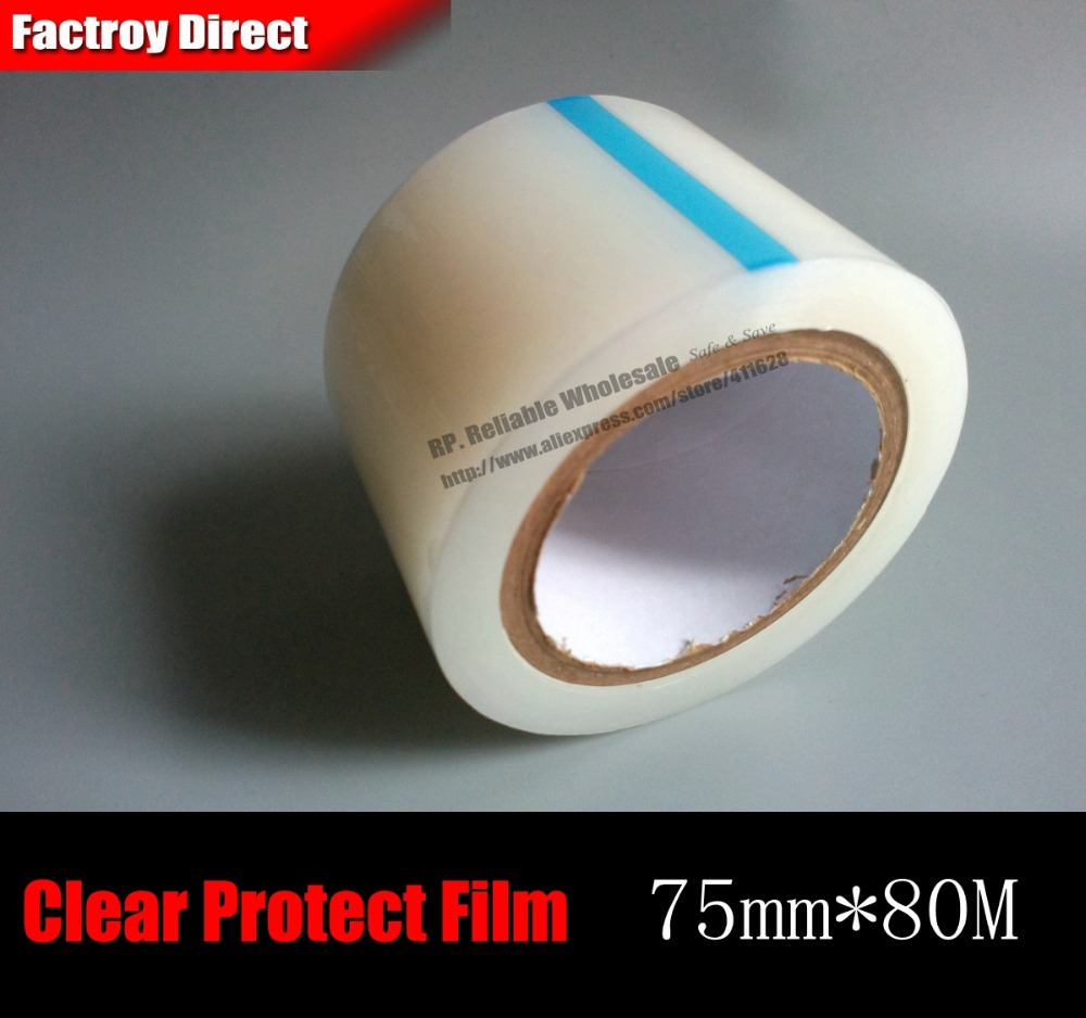 1x 7.5cm 75mm*80M PE Screen Protection Film Tape for Android Phone PSP LCD Display Protecting Repair Refurbish from Dust Scratch oca vacuum laminating machine for bonding glue adhesive on lcd display screen of phone repair refurbish