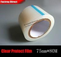 1x7.5 cm 75mm * 80 M Cinta PE Película Protectora de la Pantalla para el Teléfono Android PSP Pantalla LCD proteger Refurbish Reparación de Arañazos Polvo