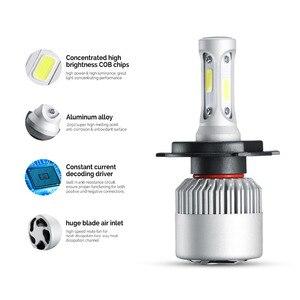 Image 5 - Auxmart светодиодный H7 H4 H11 лампы H1 H3 HB4 9006 HB3 9005 H13 светодиодный головной светильник комплект 72 Вт 8000lm 6500K светодиодный светильник Авто H 7 11 светодиодный автомобильный светильник 12v