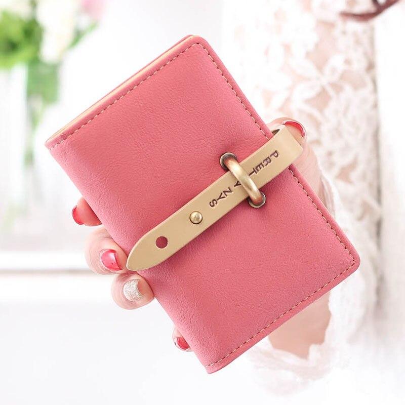 26 Karten 2018 Koreanische string leder weiblichen brieftaschen visitenkarte inhaber fall geldbörsen porta tarjetas macaquinho feminino 45