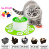 Blue Green Flower Style Electric Pet Water Fountain 1 6L Automatic Dog Cat Drinking Bowl Pet