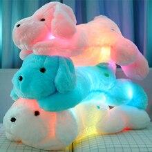 Año nuevo 50 CM longitud luz creativa de la noche bonito perro de peluche y felpa juguetes mejores regalos para los niños y amigos YZT0145B
