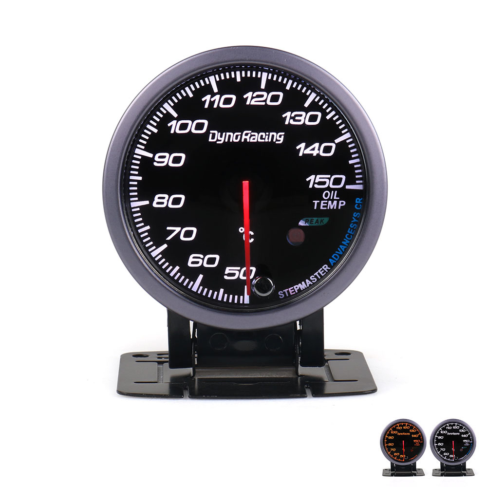 60mm Universal Black Face Car Water Temp Gauge 50-150℃ Water Temperature Sensor