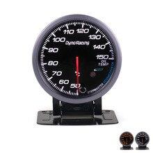 Dynoracing 60 мм черное лицо Автомобильный датчик температуры масла 50-150C датчик температуры масла с красным и янтарным освещением автомобильный измеритель TT101481