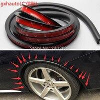 2X 3M PVC Car Fender Flares Extension Black 4 Wheel Eyebrow Protector Lip Trims