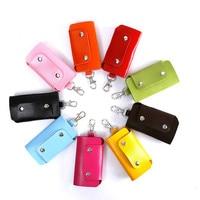 20pieces/lot Leather Key Wallet 9 Color Men & Women Car Key Bag Multi Function Key Case Fashion Ladies Housekeeper Key Holders