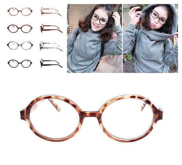 0f952ad65c0d2 Vintage Oval Round Leopard Black 2 colors Eyeglass Frame UNI Glasses Full-Rim  WITHOUT LENSES Eyeglasses Eyewear