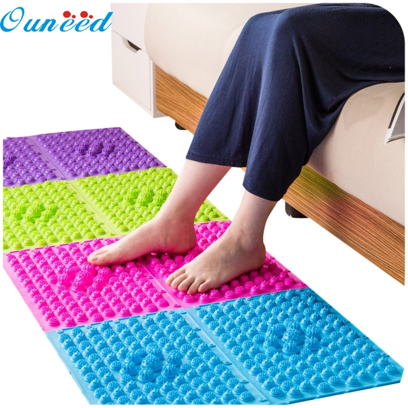 Ouneed Happy Home Large Colorful Acupuncture Foot Massager Medical Therapy Mat Foot Massage Pad 1 Piece chinese health care colored fabric magnet acupuncture foot massager medical therapy blanket mat walking pad cushion