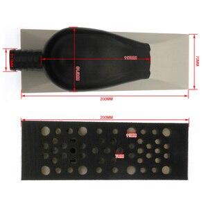 Image 5 - 200x70 millimetri Multi Foro di Vuoto privo di Polvere A Mano Blocco di Levigatura Gancio e Anello