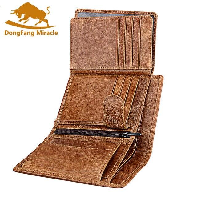 الرجال محفظة لينة حقيقية محفظة جلدية سعة كبيرة محفظة Vintage عملة جيب تتفاعل فرشاة حامل بطاقة محفظة طولية