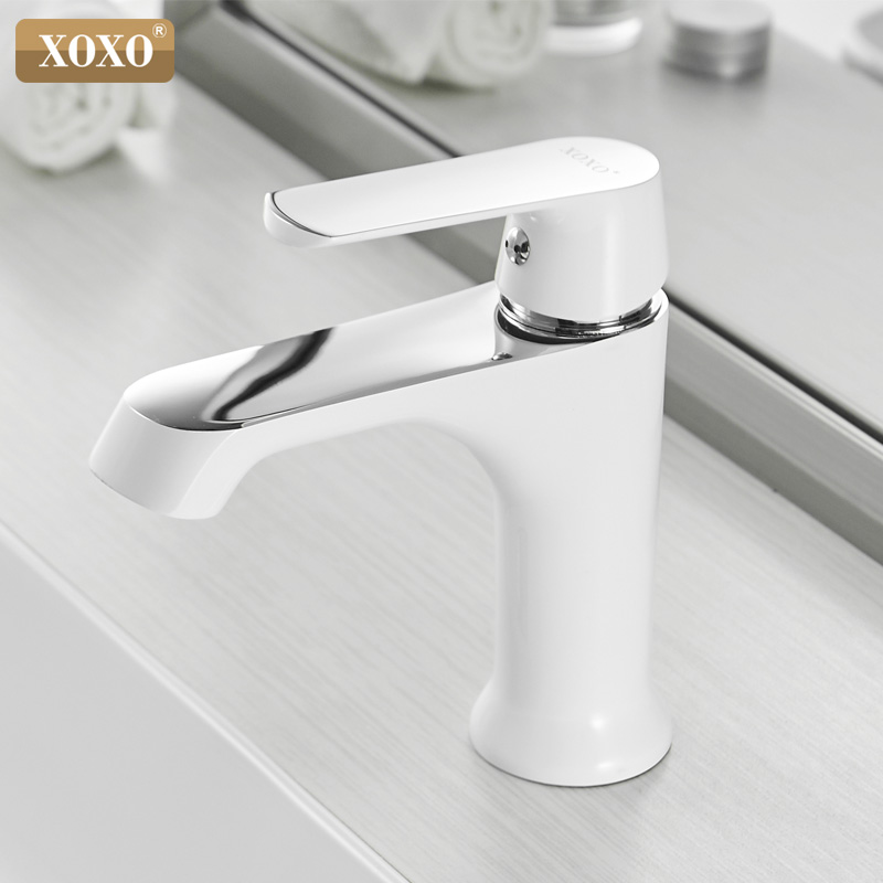 XOXO Basin Faucet Cold And Hot Water Taps Bronze Green Orange White Fashion Style Single Hole Bathroom Mixer Faucet 20025
