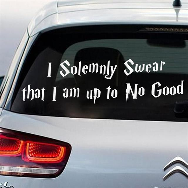 Fasion creative black quote cars buses window door decoration wall stickers removable car mural art sticker