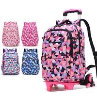 ZIRANYU Removable women travel Bags Waterproof for Girls Trolley Backpack Kids Wheeled Bag Bookbag travel luggage Mochilas