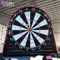 PVC tarpaulin material inflatable soccer dart board / inflatable football target with sticky balls toy sports