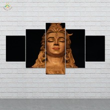 Cute Shiva 5 Pieces/set Wall Art Paintings Picture Print on Canvas for Home Decoration Living Room