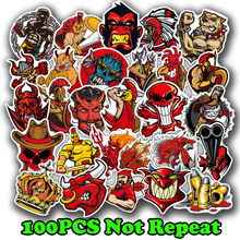 100pcs Horror Series Sticker Rock Punk Graffiti Sexy Waterproof Stickers for DIY Guitar Helmet Luggage Laptop Skateboard