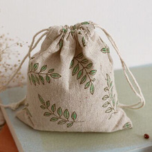 Olive Cotton Linen Gift Bag 9x12cm 10x15cm 13x17cm Pack of 50 Baby Shower Birthday Party Wedding Favor Holder Jewelry Pouch