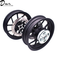 2.50 12inch Front Rims/2.75 12 inch Rear Rim with Sprocket #428 34 tooth and 200/220mm brake disc plate for Motorcycle Wheels