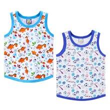 Детские рубашки из хлопка для мальчиков с круглым вырезом, 2 шт./лот, спортивная одежда для малышей, летняя одежда, детские майки для дня рождения, подарки