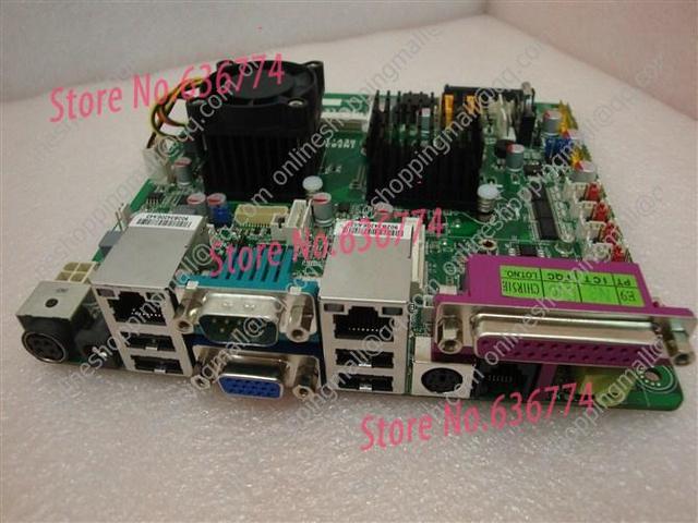 Atom d525 6 * com lvds dc 12 v máquina pos motherboard industrial