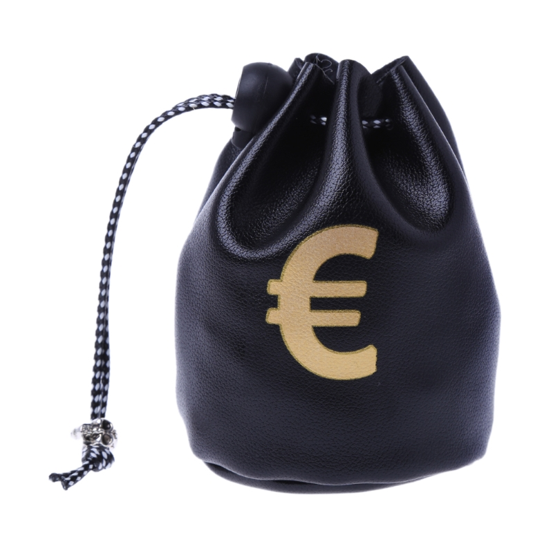 2 Styles Small Drawstring Bag Dollar GBP EUR Bags Jewelry Pouch Purse Coin Case Gift New Coin Bag