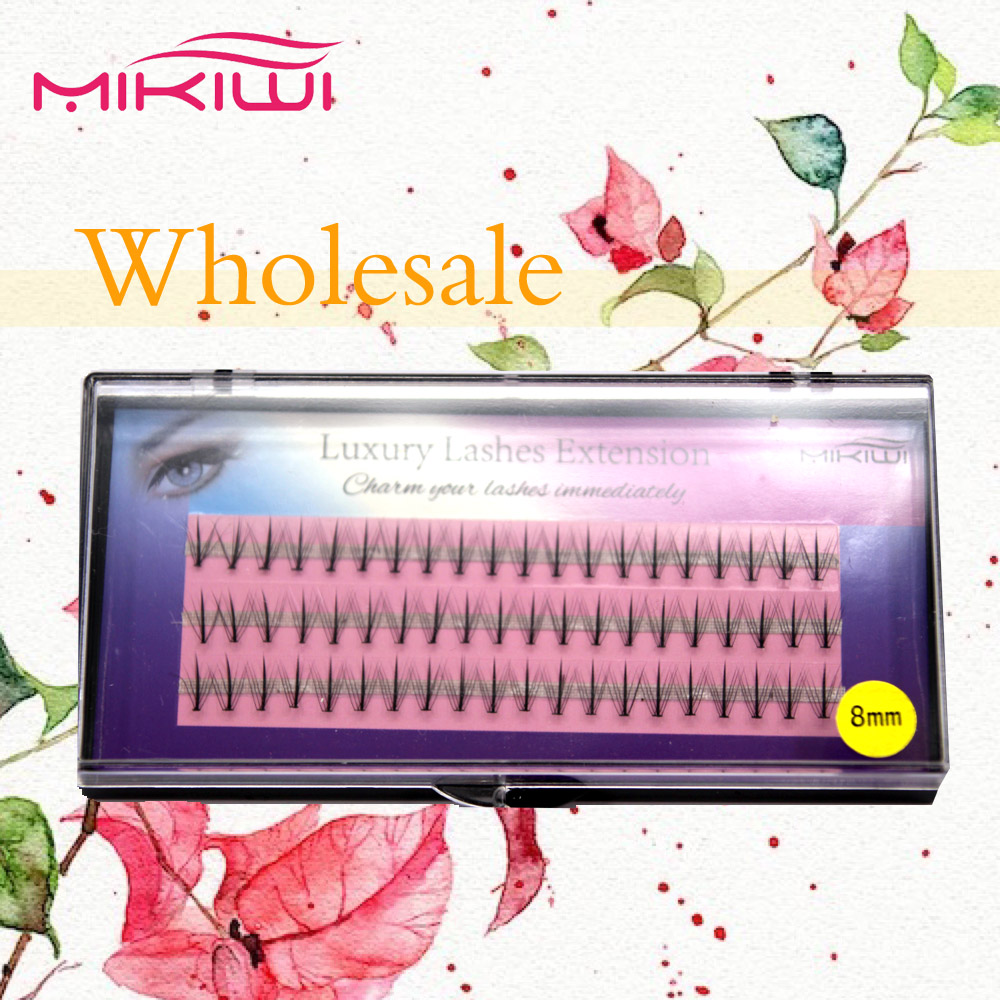 Wholesale soft 100% hand made Mikiwi top selling natural Ellipse Flat lash extensions 3D mink lashes