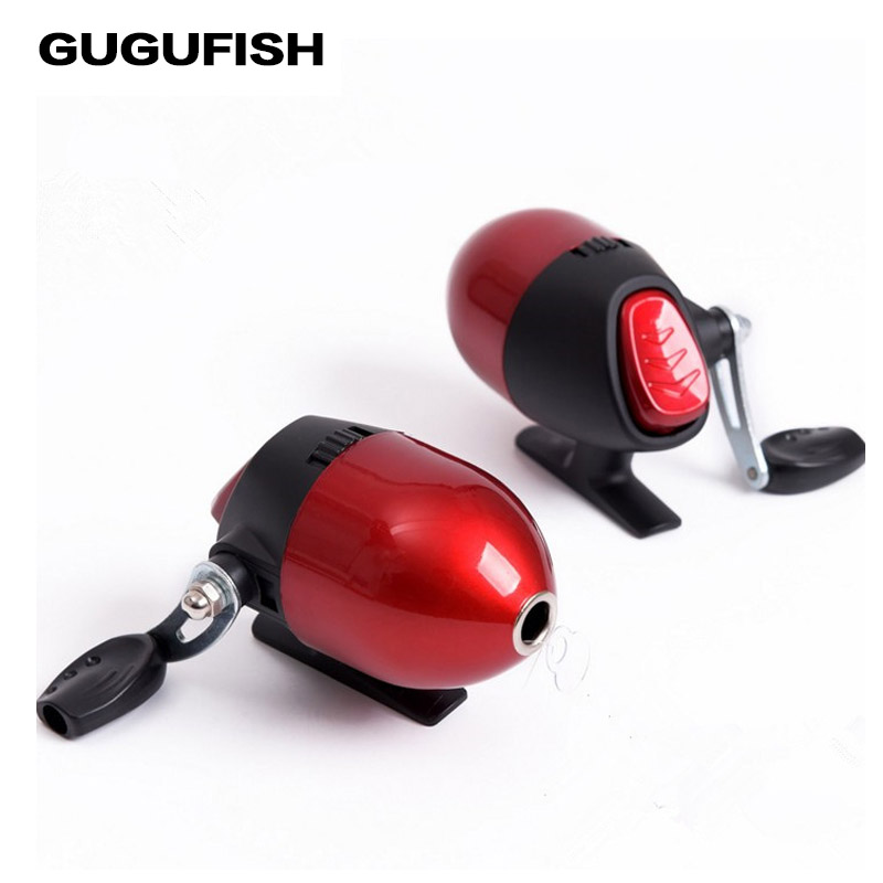 GUGUFISH Red Spin Cast Bow Fishing Reel Catapults Spherical Shot Control Hunting Fish Drift Fishing Wheel With Fishing Line