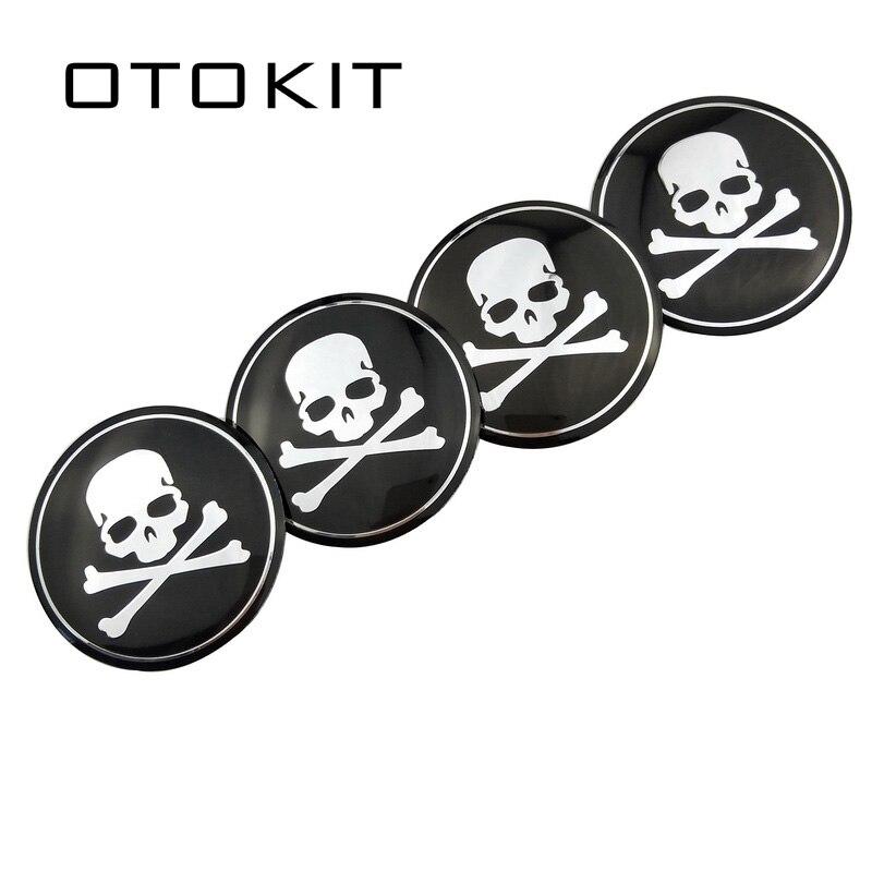 56.5mm Skull Car Emblem Wheel Center Hub Cap Badge Cover Sticker for Mazda Renault Chevrolet Honda Opel Honda Cadillac KIA