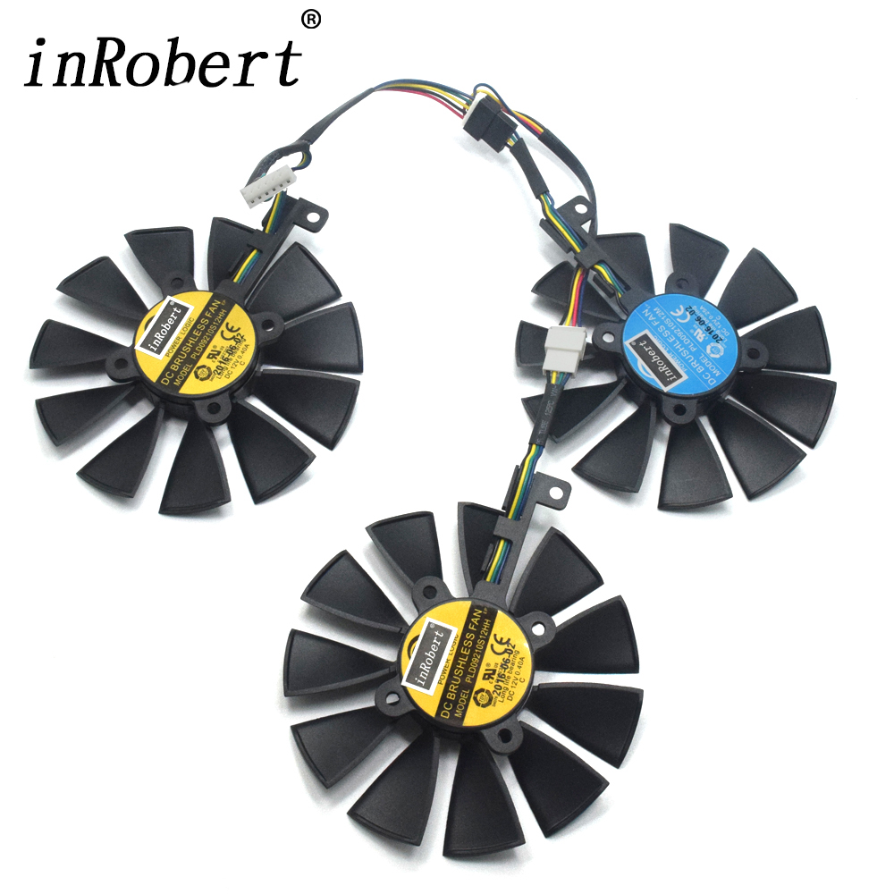 87MM PLD09210S12M PLD09210S12HH Cooler Fan For ASUS Strix GTX 980Ti GTX 1060 1080 1070 RX 480 580 VEGA64 VEGA56 Graphics Card image