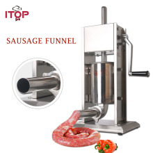 ITOP 3L/5L/7L Sausage Fillers Food Filling Machine Stainless Steel Manual Double Speeds Sausage Stuffers Kitchen Tools