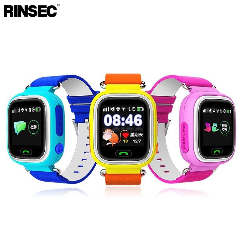Rinsec Q90 GPS WI-FI ребенка умным часы анти-потерянный Детская безопасность милый малыш смотреть SOS вызова расположение напоминание для Iphone android