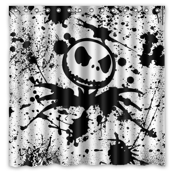 Jack Skellington Design Bathroom Shower Curtain WaterproofMildewproof Polyester Fabric Bath Curtains 180cm180cm In From Home Garden On